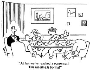 boring meeting - consensus