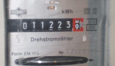 de meterstand op 1 mei 2008